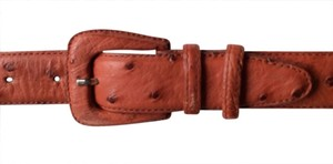Reptile House Italy NEW Reptile House Italy Genuine Burnt Orange Ostrich Belt