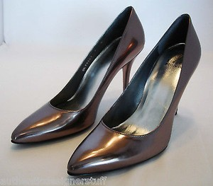 Stuart Weitzman Brown Metallic Specchio Pumps
