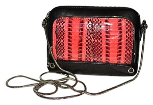 MILLY Watersnake Snakeskin Mercer Cross Body Bag