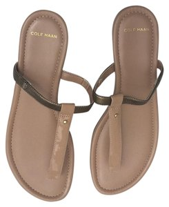 Cole Haan Cream w gold Sandals