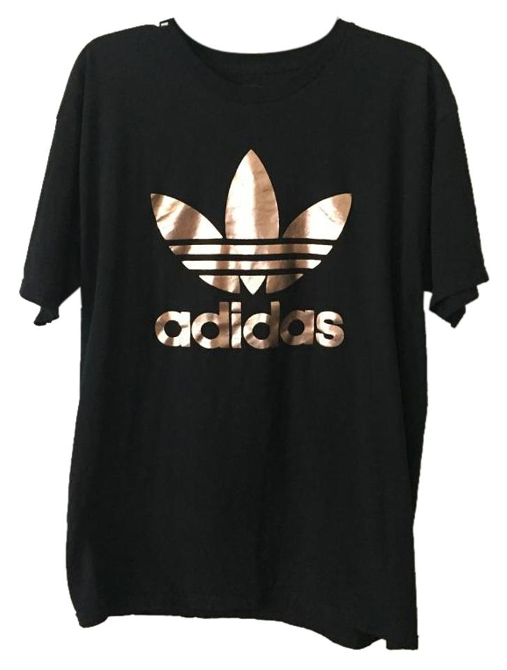 84ddcfc7 adidas Black/Rose Gold Double Logo Tee Shirt Size 12 (L) - Tradesy