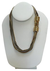 Giles & Brother Giles and Brother Multi-Chain Mixed Metals Necklace