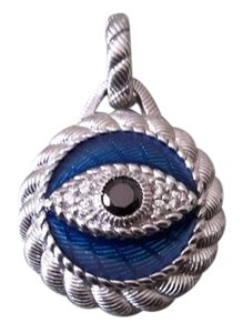 Judith Ripka Sterling Silver, Enamel & Diamonique Evil Eye Enhancer