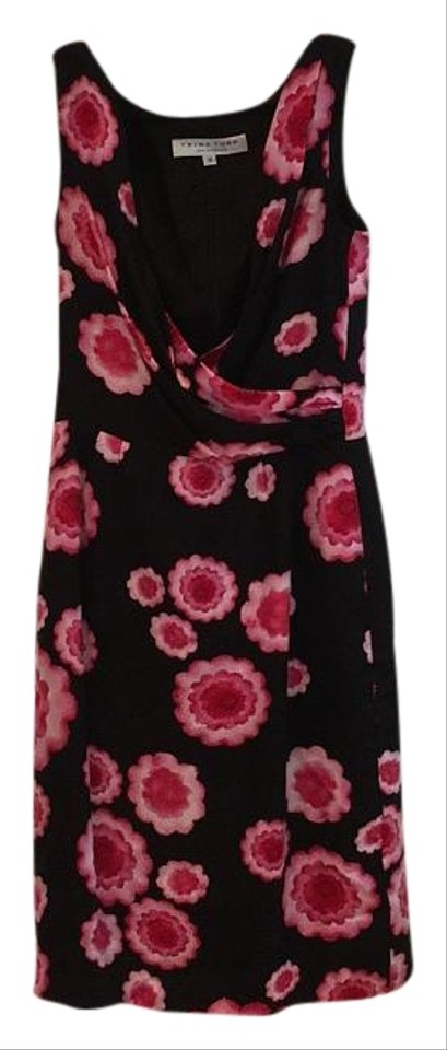 Black Pink Turk Cocktail Dress Floral with Trina Print wvxH1w