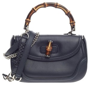 Gucci Top Handle Leather Satchel