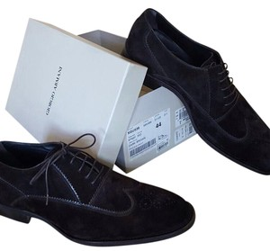Giorgio Armani Suede Leather Lace Up Loafers DARK BROWN Formal