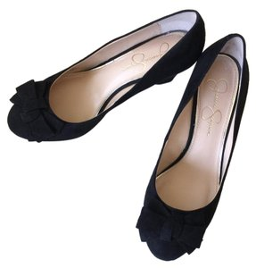 Jessica Simpson Suede Black Pumps