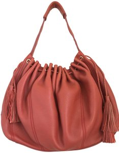 7 For All Mankind Leather Drawstring Large Hobo Bag