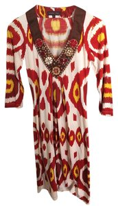 Multi Color Maxi Dress by Anthropologie Kaftan Caftan Tunic