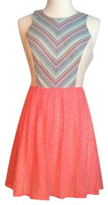 Flying Tomato short dress Cream, orange on Tradesy