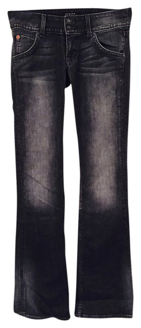 Item - Black / Grey Dark Rinse Rn 107906 / Boot Cut Jeans Size 26 (2, XS)