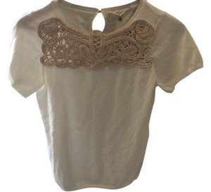 Anthropologie Anthro Crochet Bohemian Lover Top Ivory