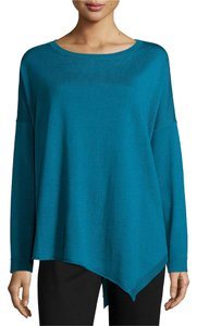 Eileen Fisher Boxy Merino Asymmetric Sweater