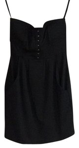 Green Envelope short dress Black on Tradesy