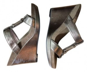 Nine West Tribe Bronze Platforms