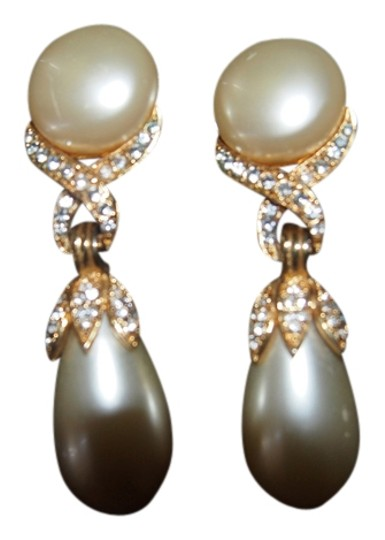 Other Vintage Pearl and Diamond costume Earrings