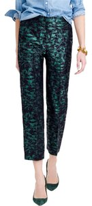 J.Crew Straight Pants Green black
