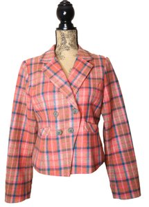 Sundance Wool pink, blue plaid Blazer