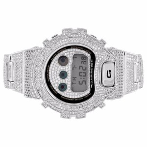 G-Shock Full Iced Out G Shock Watch Simulated Diamonds Dw600 Custom Mens Digital