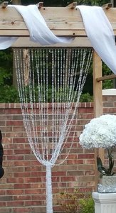 3 Lafayette Beaded Curtain - Crystal Clear Non-iridescent - 3 Ft X 12 Ft