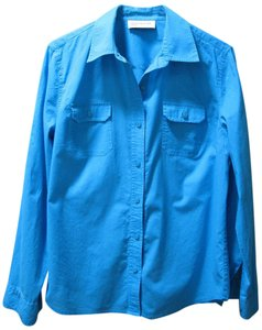 Jones New York Button Down Shirt Turquoise