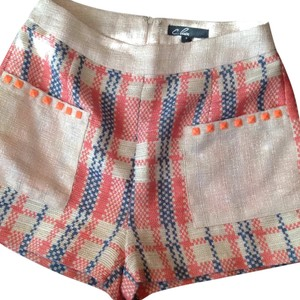 C. Luce Dress Shorts Orange, blue and cream