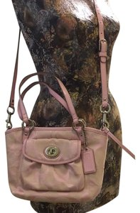 Coach Cross Body Satchel in pink