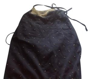The Limited Black with sewn on rhinestones Halter Top