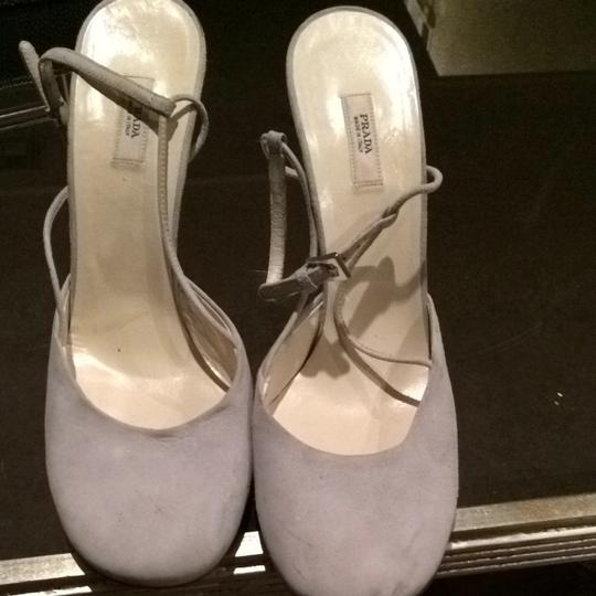 Prada Light Powder Blue Pumps