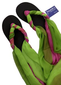 SensationWear Fuschsia and Green Sandals