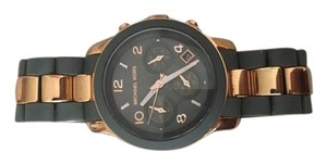Michael Kors Michael Kors Gray Rubber and Rose Gold Watch