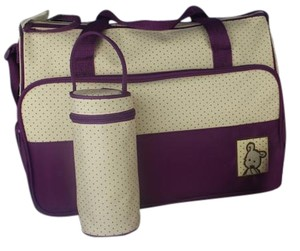 Set Bottle Purple Diaper Bag