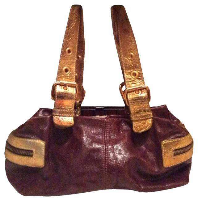 Item - Reddish Brown/Gold/Mint Green Not Sure/Faux Leather(Could Be Real/Gift) Shoulder Bag
