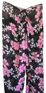 Victoria's Secret Baggy Pants Black & Hot Pink