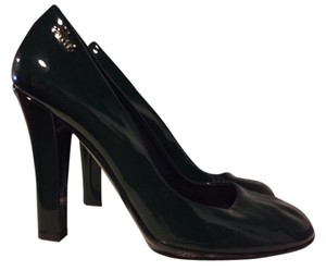377d1666cd3 Gucci Designer Leather Patent Leather Green Pumps