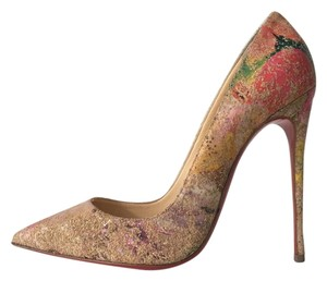Christian Louboutin So Kate Floral Cork Cork Blooming Pink Nude Pumps
