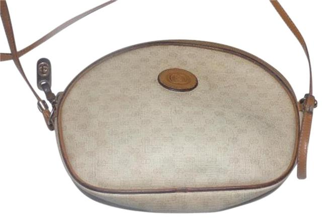 Item - Vintage Bags/Designer Purses Camel Small G Logo Print On Ivory/Camel Leather Leather/Coated Canvas Cross Body Bag