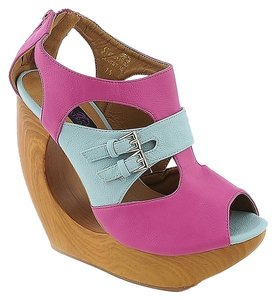 Cleopatra Fuchsia/Pale Blue Sandals