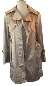 Hilary Radley Trench Women Clothing Metallic Trench Coat