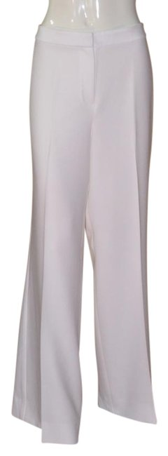 Item - White Palazzo Lined Pants Size 14 (L, 34)