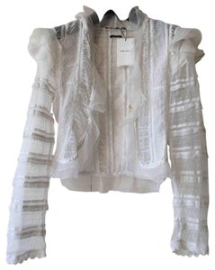 Isabel Marant Lace Silk Top White Ivory