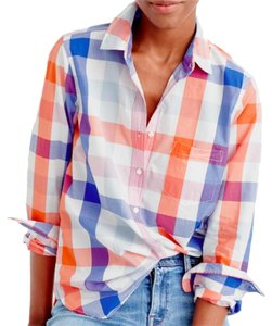 J.Crew Popover Plaid Button Button Down Shirt multicolor