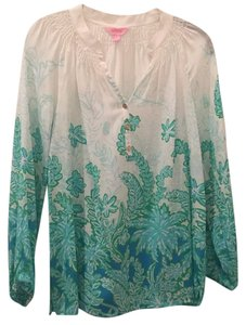 Lilly Pulitzer Top White green blue