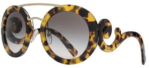 Prada BRAND NEW PRADA SPR13S ABSOLUTE ORNATE BAROQUE HAVANA ROUND OVERSIZED SUNGLASSES BRAND NEW WITH TAGS IN PRADA BOX