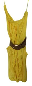 Arden B. short dress Yellow Tube Belted Summer on Tradesy