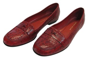 Antonio Melani Size 6.00 M Leather Very Good Condiition Red, Flats