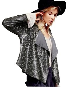Free People Pewter Blazer