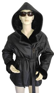 Wilsons Leather Wilson Fur Black Fur Coat