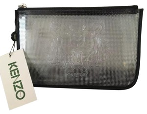 Kenzo Transparent Tiger Zip Clear Clutch