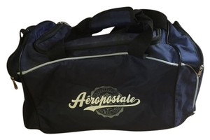 Aropostale Duffel Polyester Blue Navy and Black Travel Bag
